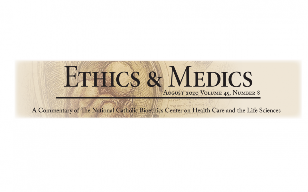 Michael Vacca Co-Authors Article in Ethics & Medics