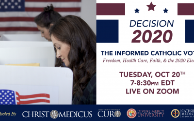 Decision 2020 for the Catholic Voter Addresses Life, Religious Freedom & Health Care In Advance of Final Presidential Debate